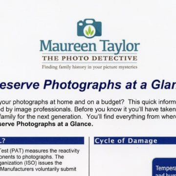 preserving photographs cheat sheet